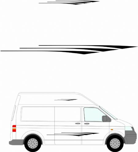 (No.245) MOTORHOME GRAPHICS STICKERS DECALS CAMPER VAN CARAVAN UNIVERSAL FITTING